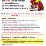 Get A Free Oil Change by using Be Forward Clearing and Delivery Service in Mombasa Port!!!