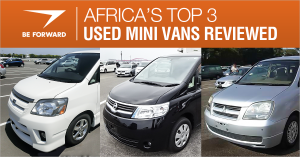 best used mini vans for africa from BE FORWARD japanese car exporter