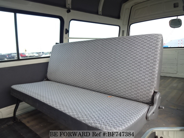 The interior of a used 2003 Toyota HiAce Van from online used car dealer BE FORWARD
