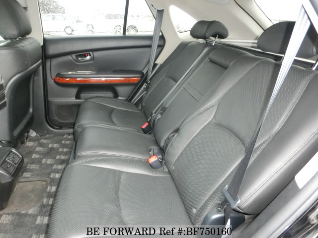 The interior of a used 2004 Toyota Harrier from online used car dealer BE FORWARD.