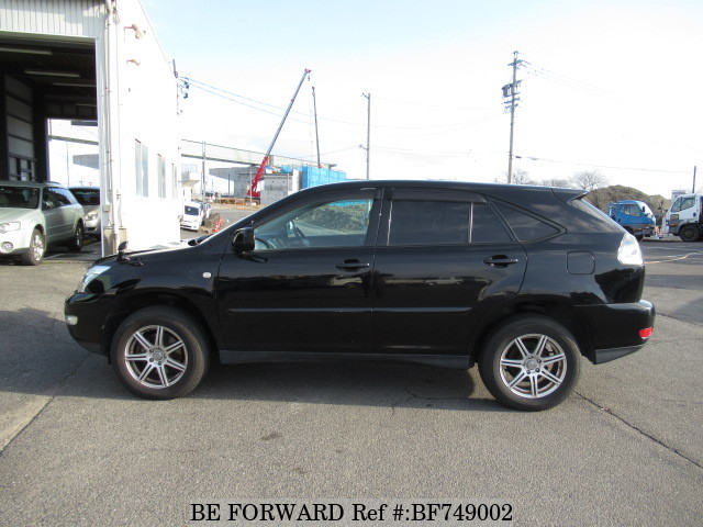 The side of a used 2006 Toyota Harrier from online used car dealer BE FORWARD.