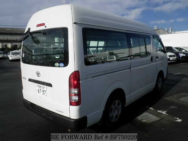 The rear of a used 2010 Toyota HiAce Van from online used car dealer BE FORWARD.