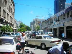 Used cars in the city of Dar es Salaam in Tanzania