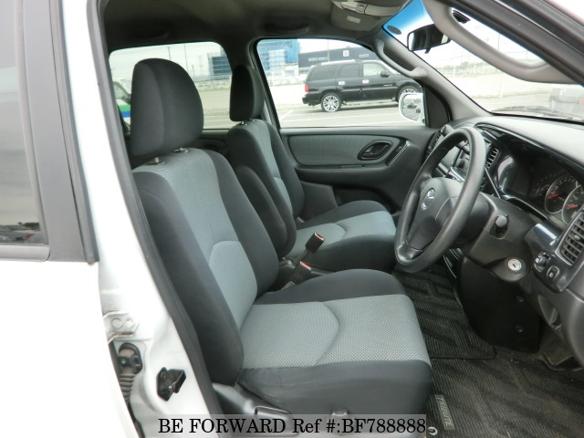 The interior of a used 2005 Mazda Tribute from online used car exporter BE FORWARD,