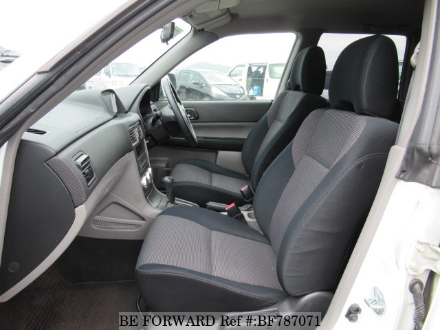 The interior of a used 2006 Subaru Forester from online used car exporter BE FORWARD.