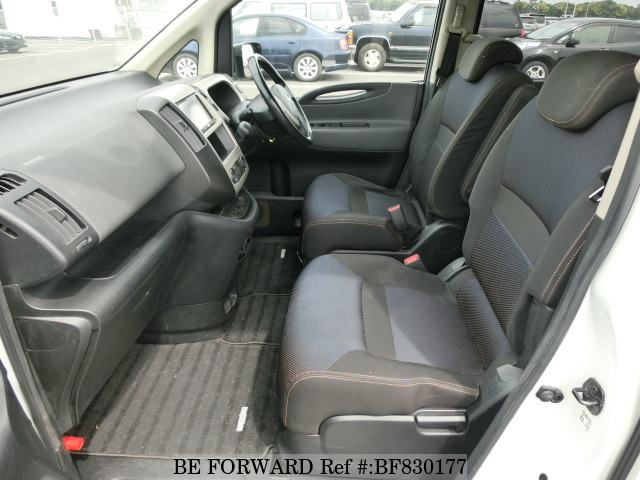 The interior of a used 2007 Nissan Serena from online used car exporter BE FORWARD.