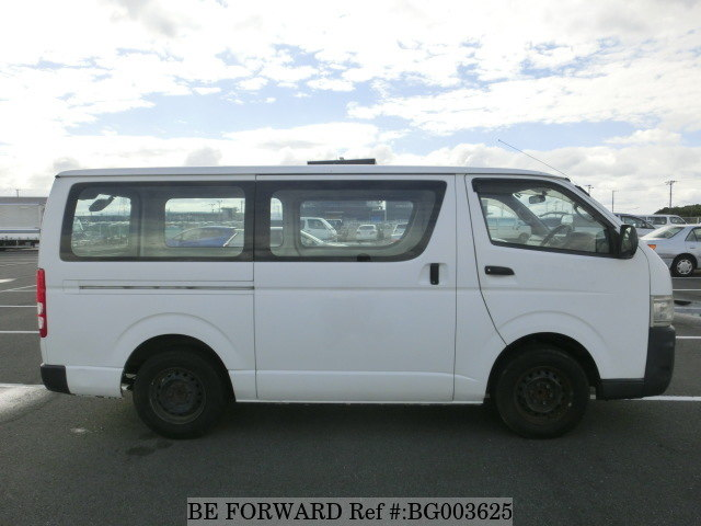 The side of a used 2008 Toyota HiAce Van from online used car exporter BE FORWARD.