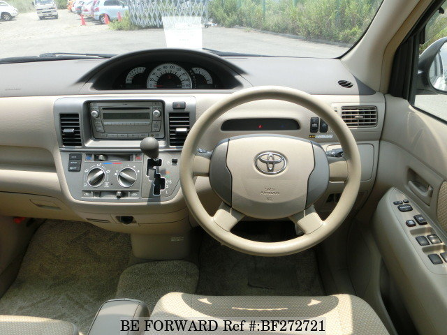 The interior of a used 2009 Toyota Raum from online used car exporter BE FORWARD.