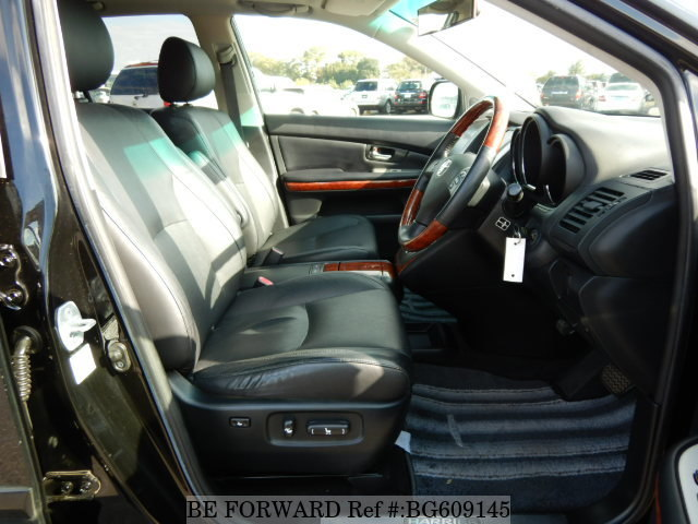 The interior of a used 2006 Toyota Harrier from online used car exporter BE FORWARD.
