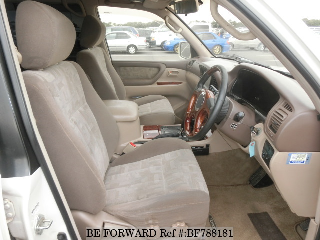 The interior of a used 1998 Toyota Land Cruiser from online used car exporter BE FORWARD.