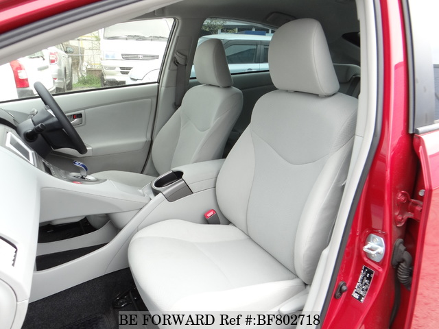 The interior of a used 2013 Toyota Prius from online used Japanese cars exporter BE FORWARD.