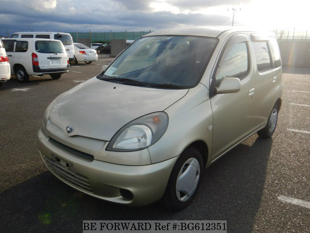 A fuel-efficient used Toyota FunCargo mini-MPV car from online used car dealer BE FORWARD.