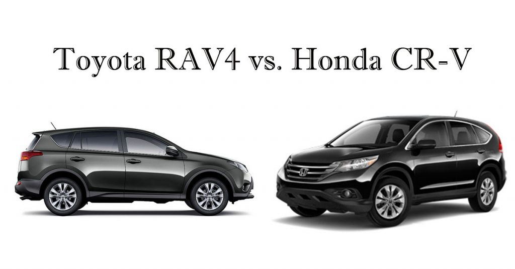 compact suv comparison toyota rav4 vs honda cr v