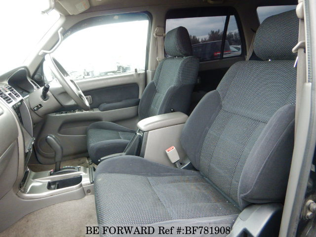 The interior of a used 2002 Toyota Hilux Surf from online used car exporter BE FORWARD.