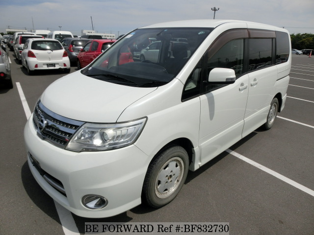 A used 2009 Nissan Serena from online used car exporter BE FORWARD.