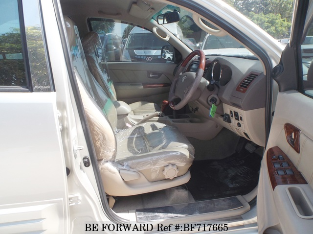 The interior of a used 2007 Toyota Fortuner from online used car exporter BE FORWARD.
