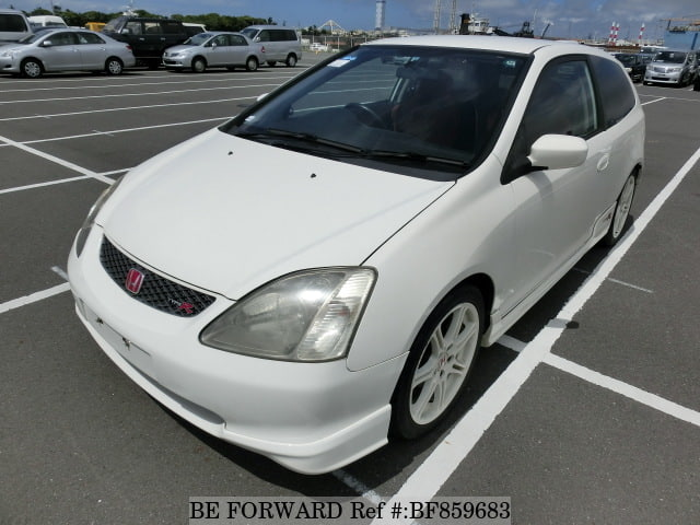 A used 2002 Honda Civic from online used car exporter BE FORWARD.