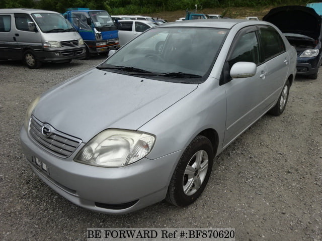 A used 2002 Toyota Corolla Sedan from online used car exporter BE FORWARD.