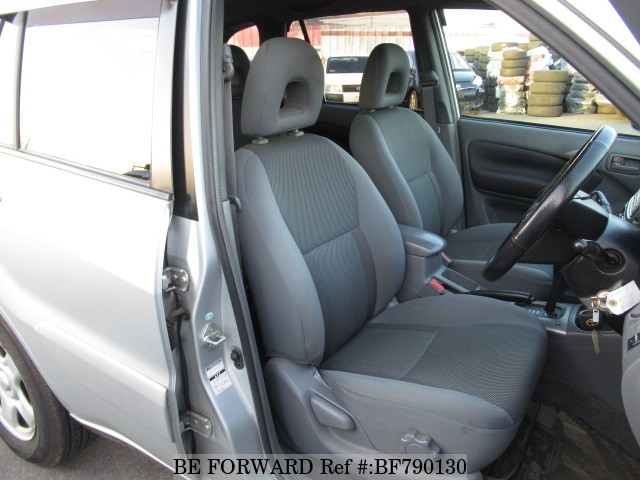 The interior of a used 2002 Toyota RAV4 from online used car exporter BE FORWARD.