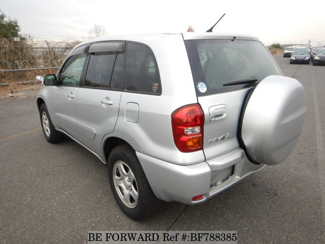 The rear of a used 2003 Toyota RAV4 from online used car exporter BE FORWARD.