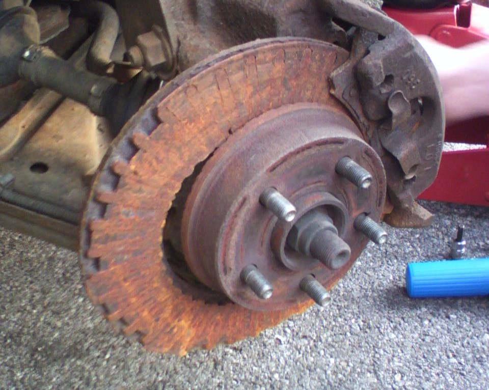 An Example Of A Worn Down Brake Rotor