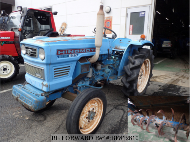 A used Hinomoto tractor from online used car exporter BE FORWARD.