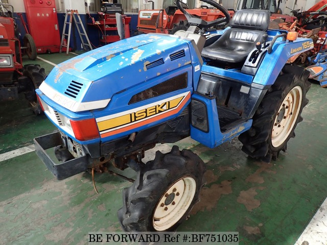 A used Iseki tractor from online used car exporter BE FORWARD.