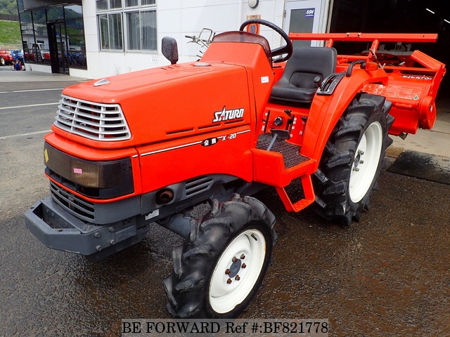 A used Kubota tractor from online used car exporter BE FORWARD.