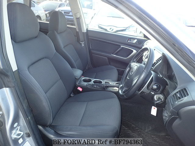 The interior of a used 2007 Subaru Legacy from online used car exporter BE FORWARD.
