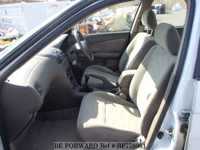 The interior of a used 2001 Nissan Sunny from online used car exporter BE FORWARD.