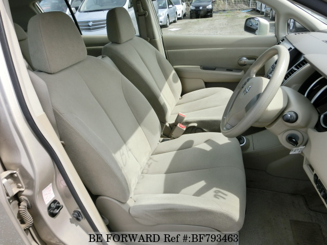 The interior of a used 2008 Nissan Tiida from online used car exporter BE FORWARD.