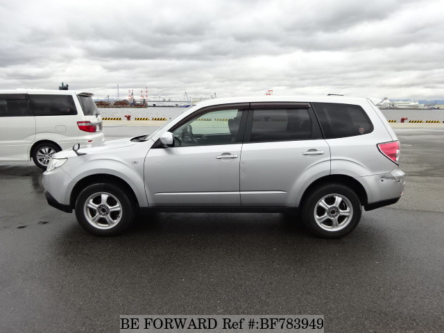 The side view of a used 2009 Subaru Forester from online used car exporter BE FORWARD.
