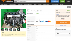 BE FORWARD Auto Parts - Product Page