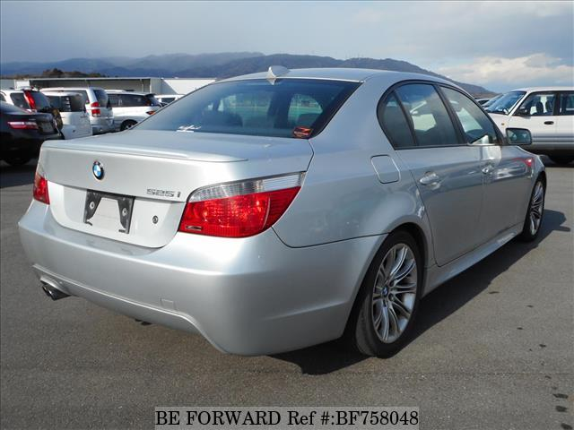 The rear of a used 2005 BMW 5-Series from online Japanese used car exporter BE FORWARD.