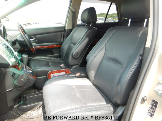 The interior of a used 2005 Toyota Harrier from online used car exporter BE FORWARD.