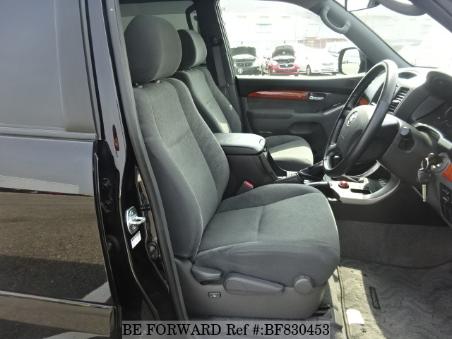 The interior of a used 2005 Toyota Land Cruiser Prado from online used car exporter BE FORWARD.
