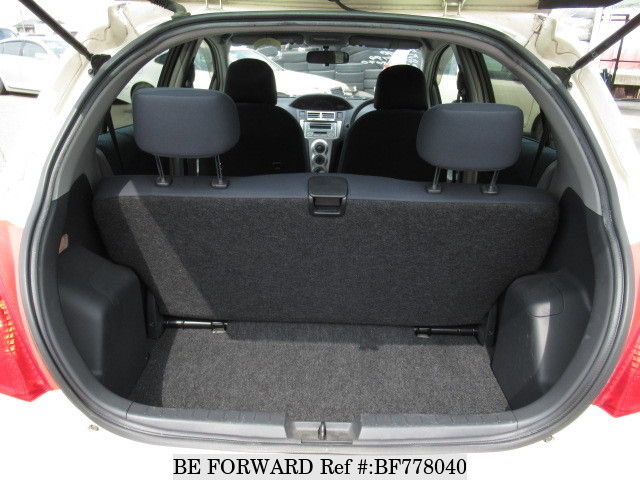 The boot space of a used 2005 Toyota Vitz from online used car exporter BE FORWARD.