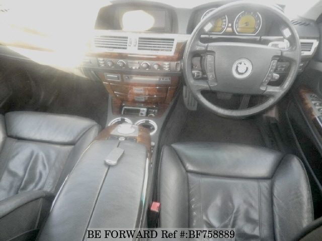 The interior of a used 2005 BMW 7-Series from online used Japanese cars exporter BE FORWARD.