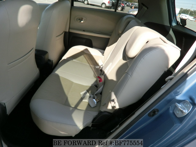 The back interior of a used 2007 Toyota Vitz from online used car exporter BE FORWARD.
