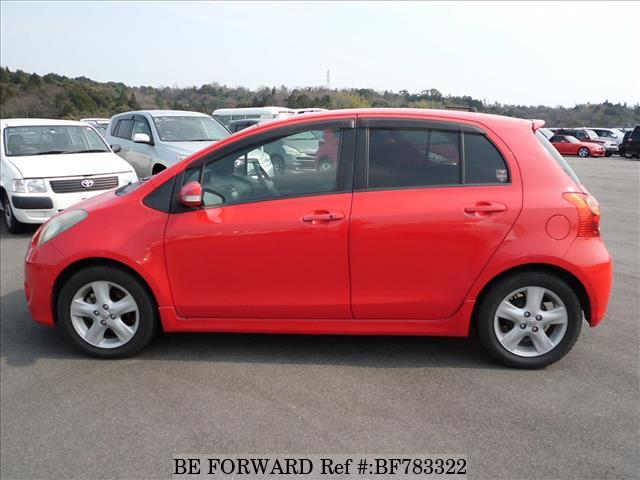 The side view of a used 2008 Toyota Vitz from online used car exporter BE FORWARD.