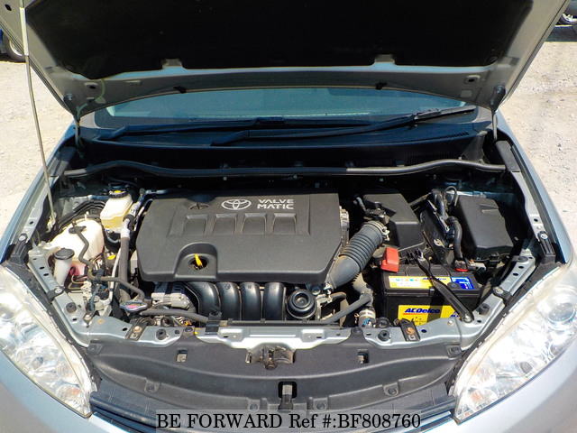 The engine of a used 2009 Toyota Wish from online used Japanese cars exporter BE FORWARD.