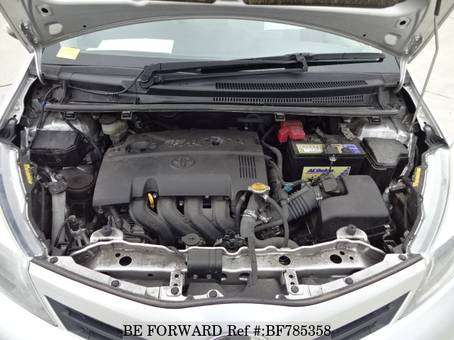 The engine of a used 2011 Toyota Vitz from online used car exporter BE FORWARD.