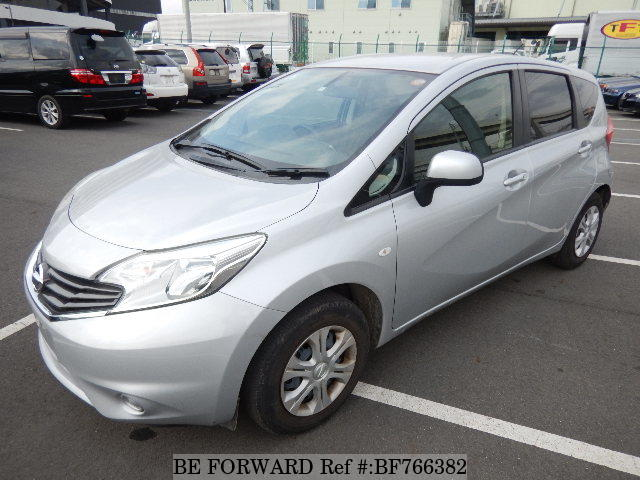 A used 2014 Nissan Note from online used car exporter BE FORWARD.