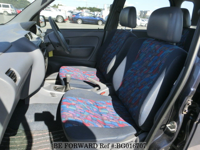 The interior of a used Daihatsu Terios from online used car exporter BE FORWARD.
