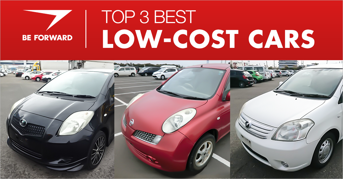 top 3 low cost cars from BE FORWARD