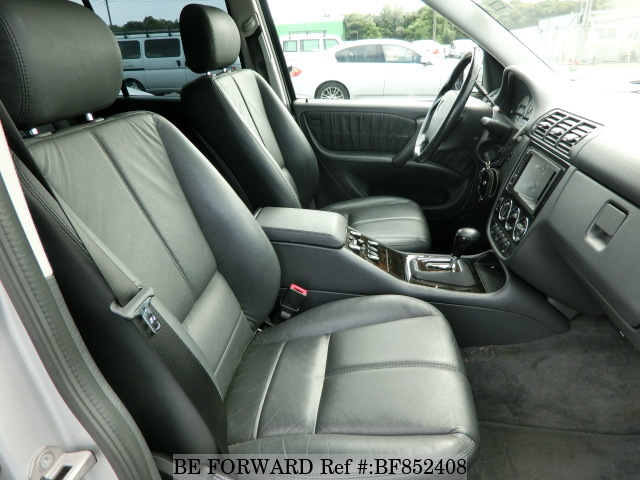 The interior of a used 2000 Mercedes-Benz M-Class from online used car exporter BE FORWARD.