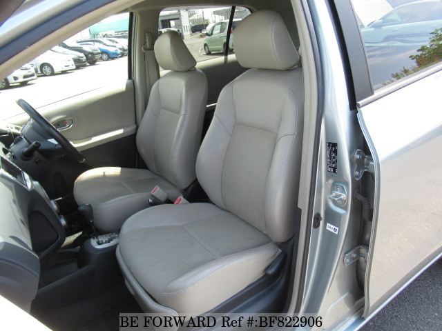 The interior of a used 2006 Toyota Vitz from online used car exporter BE FORWARD.