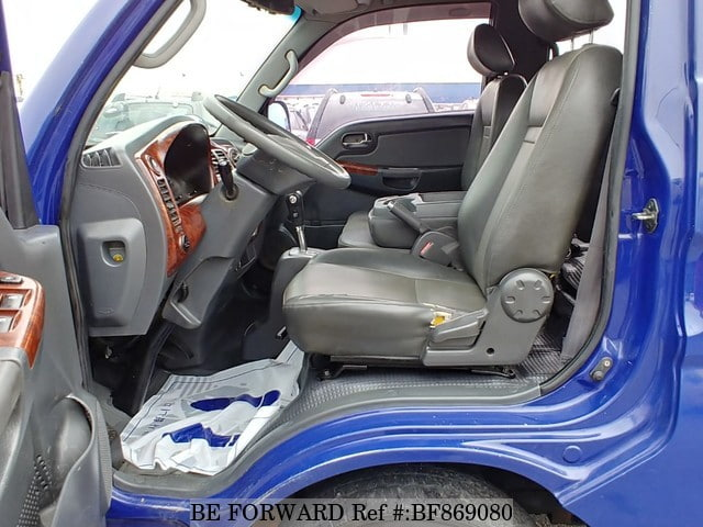 The interior of a used 2007 Kia Bongo from online used car exporter BE FORWARD.