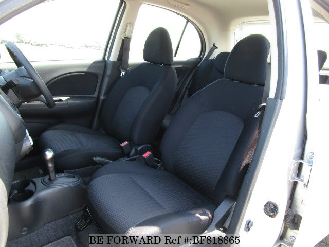 The interior of a used 2013 Nissan March from online used car exporter BE FORWARD.