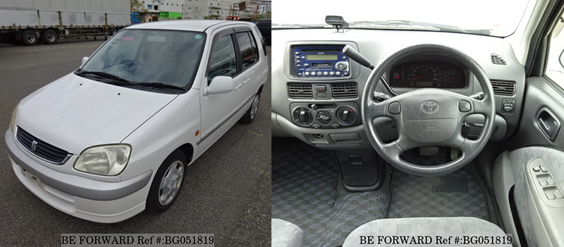 interior and exterior of a used low cost toyota raum